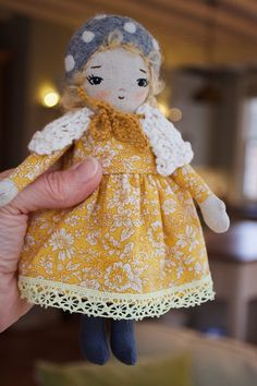 Your place to buy and sell all things handmade Fabric Doll Pattern, Fabric Dolls, Doll Clothes Patterns, Doll Patterns, Guys And Dolls, Girly Gifts, Doll Eyes, Chiffon, Little Doll
