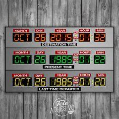 Vinilos Decorativos: Póster adhesivo DeLorean Time Panel #poster #pared #delorean #regreso #futuro #coche #vinilo #TeleAdhesivo Panel, Company Logo, Adhesive, Vinyls, Future Tense