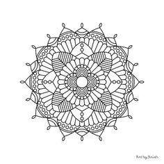 105 | Printable Intricate Mandala Coloring Pages, Instant Download, PDF, Mandala Doodling Page, Adult Coloring Pages, Kids Coloring Pages