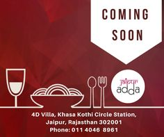 Experience an unforgettable culinary journey, #JaipurAdda is coming soon.. Stay tuned.. #FoodVentures #Restaurant #Jaipur #Foodies #RestaurantsinJaipur #JaipurFoodLovers #FoodNBeverages #FNB Jaipur, India Jaipur Rangeelo Rajasthan Rajasthan Travel & Tourism