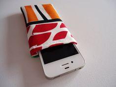 iPhone 5 en 5S telefoonhoes, oranje en rood telefoonhoesje met abstracte print op Etsy, 5,00€