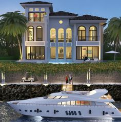 I don't know which one is cooler, the boat or the house.