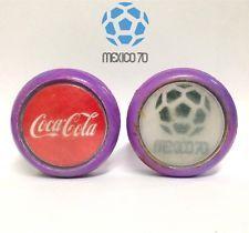 VINTAGE 70's GENUINE COCA COLA MEXICO 70 WORLD CUP FOOTBALL/SOCCER COKE YOYO