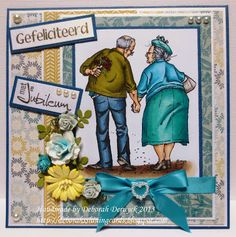 """Card with a stamp from Mo Manning featuring  """"Jack and Ginger"""""""