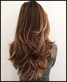 Lange haare stufenschnitt hinten | Frisuren | Pinterest ... | Einfache Frisuren