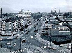 Boezemweg met op de achtergrond de koninginnenkerk 1970
