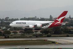 https://flic.kr/p/9C91in | Qantas Airlines, Airbus A380-800 | Airbus A380 Qantas Airlines LAX April 23, 2011