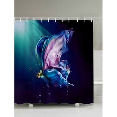 Waterproof Polyester Shower Curtain with Hooks - MIDNIGHT 200*180CM