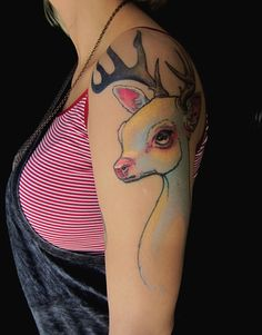 Goose Tattoo / Brooklyn / Tattoo Portfolio of Nalla Smith #tattoo #deer #tattoos