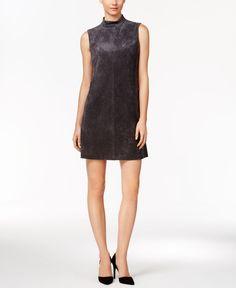 86cd577680 Ivanka Trump Faux-Suede Mock-Neck Shift Dress & Reviews - Dresses - Women -  Macy's