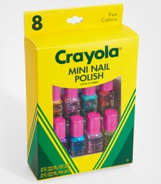 Crayola Mini Nail Polish Set- adorable!
