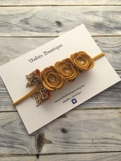 Mustard Triple Felt Flower Hairband autumnal flower crown