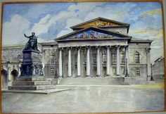 Мюнхенская опера 1914 - Картины Адольфа Гитлера (Фото)