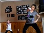 Watch me whip! Pregnant mom and daughter dance-off | Daily Mail Online