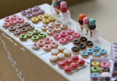 miniature food doughnuts | Miniature Food - Rainbow Donuts | Flickr - Photo Sharing!