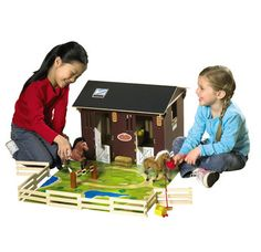 Chestnut Ridge Deluxe Stable The Chestnut Ridge horses can stay safe and warm in their favourite stable with this great playset! Deluxe stable with 9 piece fence, accessories and playmat. Horses sold separately http://www.comparestoreprices.co.uk/childs-toys/chestnut-ridge-deluxe-stable.asp
