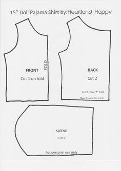 "Displaying 15"" Doll Shirt"