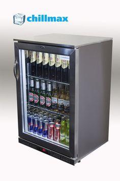 Elegant Butlers Pantry   BAR Fridge 1 Door Full Stainless Steel 138L Under Counter Glass  Door 900Hx600Wx520D