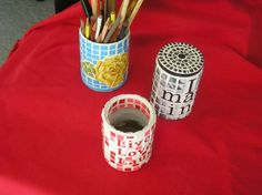 beginner mosaic Project Ideas for recycling tin cans | Found on instructables.com