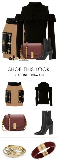 """""""Embellished Skirt"""" by houston555-396 ❤ liked on Polyvore featuring FAUSTO PUGLISI, Exclusive for Intermix, Marc Jacobs, Gucci, Chico's, INC International Concepts and Trina Turk"""