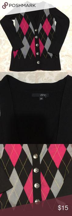 Black pattern cardigan Worn a handful of times Jackets & Coats Blazers