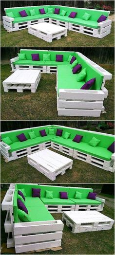 recycled wood pallet patio couch