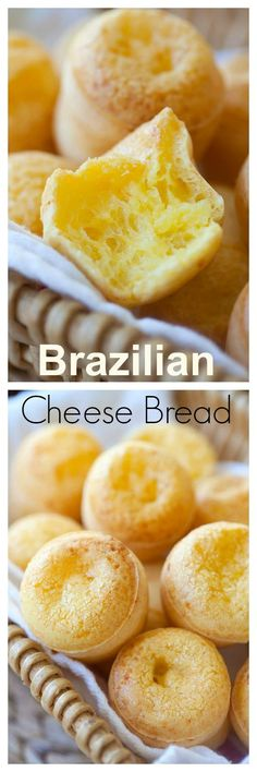 Easy Brazilian Cheese Bread (Pao de Queijo) is part of Homemade bread Gluten Free - Get this simple recipe for glutenfree Brazilian cheese bread, also known as Pao de Queijo! Chewy little balls of cheesy bread Yum! Fingers Food, Brazilian Cheese Bread, Bread Recipes, Cooking Recipes, Comida Latina, Simply Recipes, Easy Recipes, Healthy Recipes, Snacks