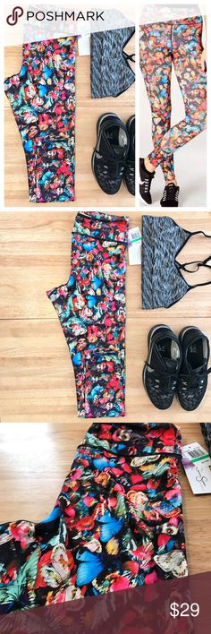 "🆕Jessica Simpson Warm Up Legging beautiful butterfly pattern! Brand New! perfect for the gym, yoga or running (or if you're like me - they're perfect for binge watching netflix on the couch and snacking 😉) Pull on styling Flat seams for minimized chafing. Mesh lined zip-close pocket at back of waistband to hold key or other small items. 89% polyester, 11% spandex. 27"" inseam. 9""rise. Bundle with other items in my closet for HUGE savings 🎉 Jessica Simpson Pants Leggings"