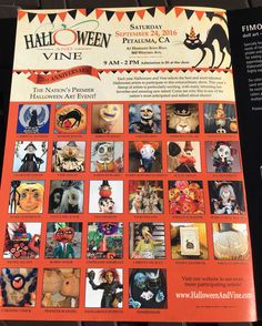 On stands August 1, 2016. The new Fall issue of Art Doll Quarterly features Halloween and Vine's ad on the inside front cover.  Follow Halloween and Vine on Facebook and Instagram and the show's website www.halloweeenandvine.com