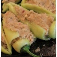How to make stuffed banana peppers - Debbiedoos