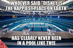"""Untitled El que dijo """" Disney es el lugar mas feliz del mundo """" nunca ha estado … Untitled The one who said """"Disney is the happiest place in the world"""" has never been in a pool like this Swimming Pool Quotes, Swimming Funny, I Love Swimming, Swimming Diving, Swimming Tips, Swimming Pools, Sea Diving, Aly Raisman, Shawn Johnson"""