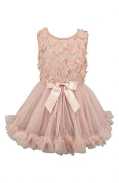 Dimensional floral appliqués add irresistible charm to a sleeveless dress with a fluttery, layered tulle skirt. Style Name:Popatu Flower Tulle Dress (Baby). Style Number: Available in stores. Pink Toddler Dress, Baby Girl Dresses, Baby Dress, Girl Outfits, Flower Girl Dresses, Toddler Girls, Baby Girls, Flower Girls, Tutu