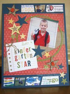 Almost Artisan Kindergarten Star Layout 8.5x11