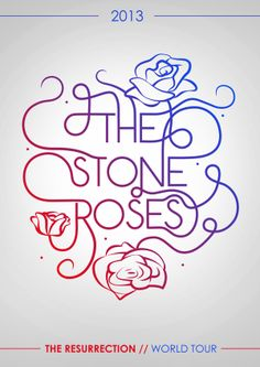 Personal Work - Stone Roses Poster http://www.behance.net/gallery/The-Resurrection-Continued/13025945
