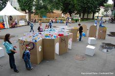 Cardboard paint wall