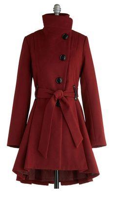 Cranberry coat