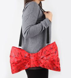 Big Red Bow bag with internal pockets - 100% #kawaii