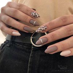 Chic Nails, Stylish Nails, Trendy Nails, Swag Nails, Halloween Acrylic Nails, Fall Acrylic Nails, Nagellack Design, Leopard Nails, Almond Acrylic Nails