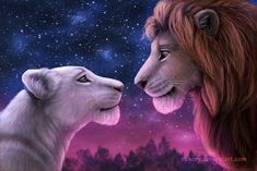 Simba and Nala by Vanory.deviantart.com on @DeviantArt