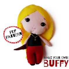 Shop for on Etsy, the place to express your creativity through the buying and selling of handmade and vintage goods. Buffy Summers, Make Your Own, How To Make, Buffy The Vampire Slayer, Handmade Felt, Felt Dolls, Christmas Ornaments, Holiday Decor, Creative
