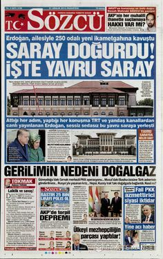 Sözcü Gazetesi  MASALLARIN BİLE GERÇEK OLDUĞU ÜLKE HALİNE GELDİK.