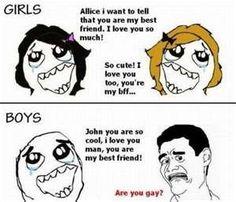 Girl Best Friends vs. Guy Best Friends.