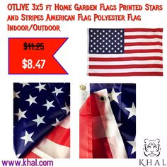 OTLIVE 3x5 ft #Home #Garden #Flags #Printed #Stars and #Stripes #American #Flag #Polyester Flag #Indoor #Outdoor  https://www.khal.com/products/otlive-3x5-ft-home-garden-flags-printed-stars-and-stripes-american-flag-polyester-flag-indoor-outdoor  Its the time to celebrate 🇺🇸 -- One click at khal.com  #khal #khal.com #Summer offer #Deals #online shopping #shopping #flags #flag#day