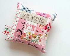 pincushions by ayumills, via Flickr. love the stamping.