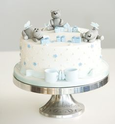 The bakery Anita Ingebretsen - The bakery Anita Ingebretsen - Half Birthday Baby, Baby Birthday Cakes, Baby Boy Cakes, Torta Baby Shower, Elephant Baby Shower Cake, Baby Boy Shower, Gateau Baby Shower Garcon, Christening Cake Boy, Marzipan Cake