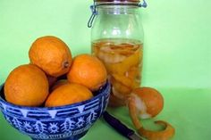 The best time to make limoncello, a sweet lemon liqueur, is right now while there's a glut of lemons and they are dropping off the trees. Making Limoncello, Lemon Liqueur, Preserves, Sweet Treats, Entertaining, Orange, Fruit, Vegetables, Drinks