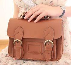 Vintage Classic Satchel - Handmade Genuine Leather Women's Small Satchel, Handbag, Messenger Bag