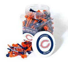 Team Golf NFL Chicago Bears Jar Of 175 Golf Tees, Multicolor