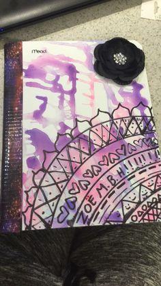DIY back to school notebook, gotta love em'