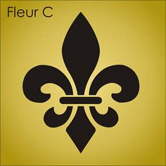 "Stencil 11"" Fleur de Lis French Fluer Louisiana Symbol Cajun Theme LG Craft Sign 